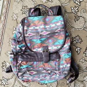 Mossimo aztec tribal southwestern canvas backpack